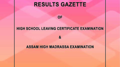 Assam HSLC and AHM Results Published.